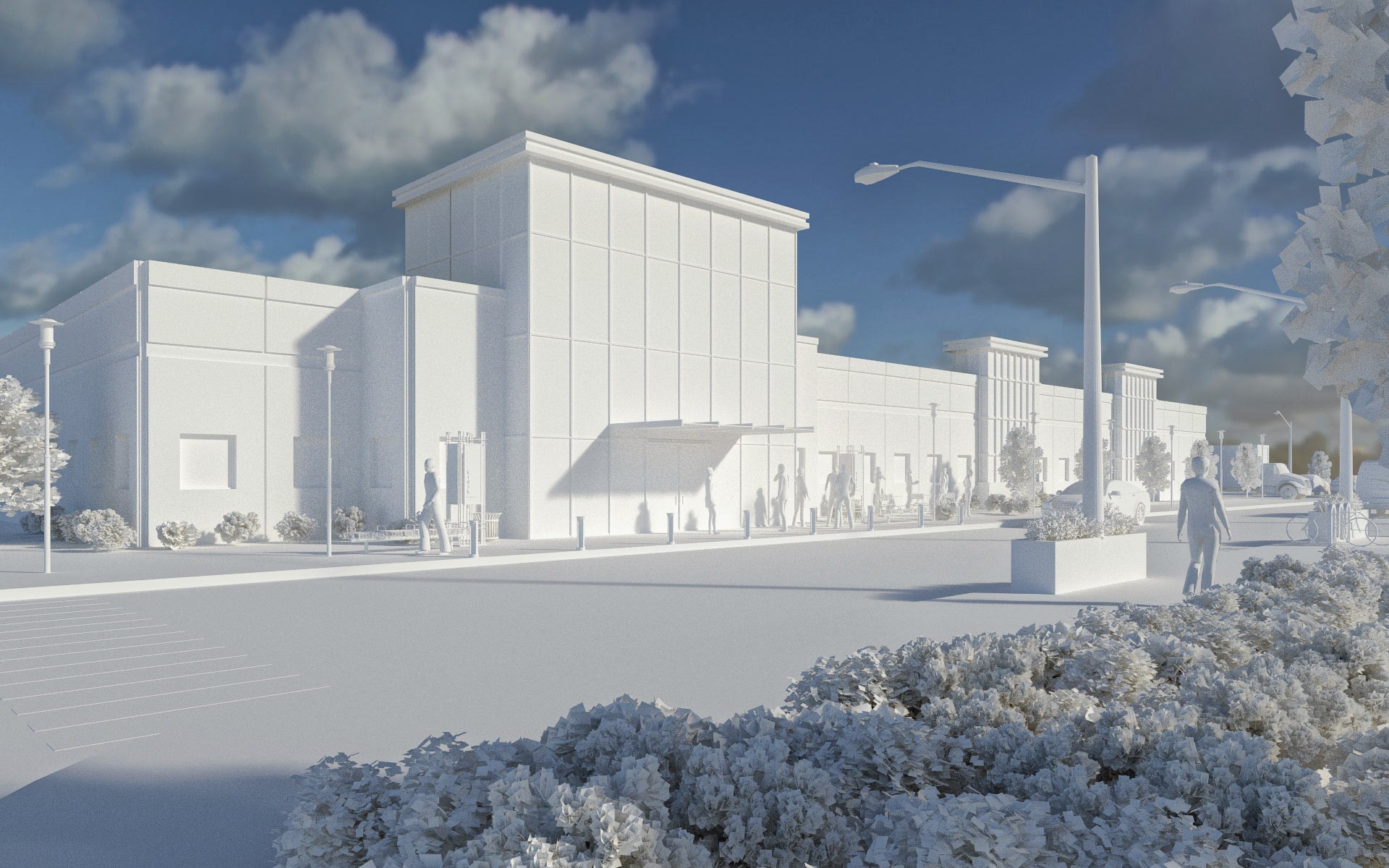 Industrial Building Renderings Architecture Photography